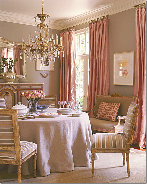 Antique French Louis Xvi Chairs With A Contemporary Stripe In Unique Formal Dining Room Curtain Ideas 2018