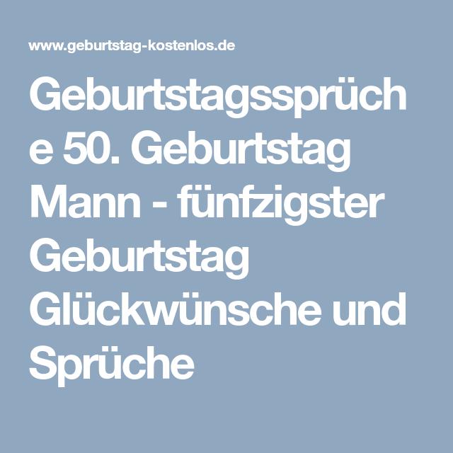 Geburtstagswunsche mann 50