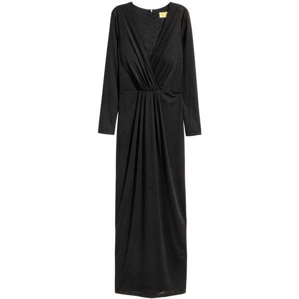 Lang kjole med V-udskæring 399.- (535 SEK) ❤ liked on Polyvore featuring jewelry and rings