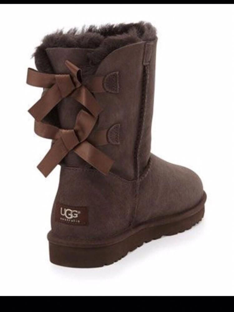 cc06eb8c05e TALL SOFT WOMENS UGGS BOOTS WITH THE BOW #fashion #clothing #shoes ...