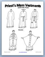 the vestments of a catholic priest