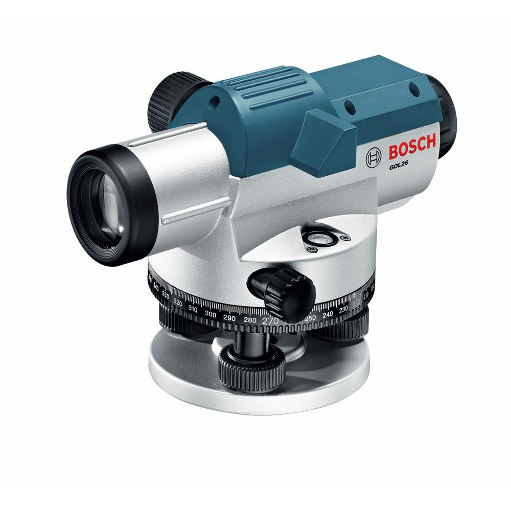 Bosch Automatic Optical Cross Check Laser Level Kit With Hard Case Gol 26ck The Home Depot Bosch Laser Levels Optical