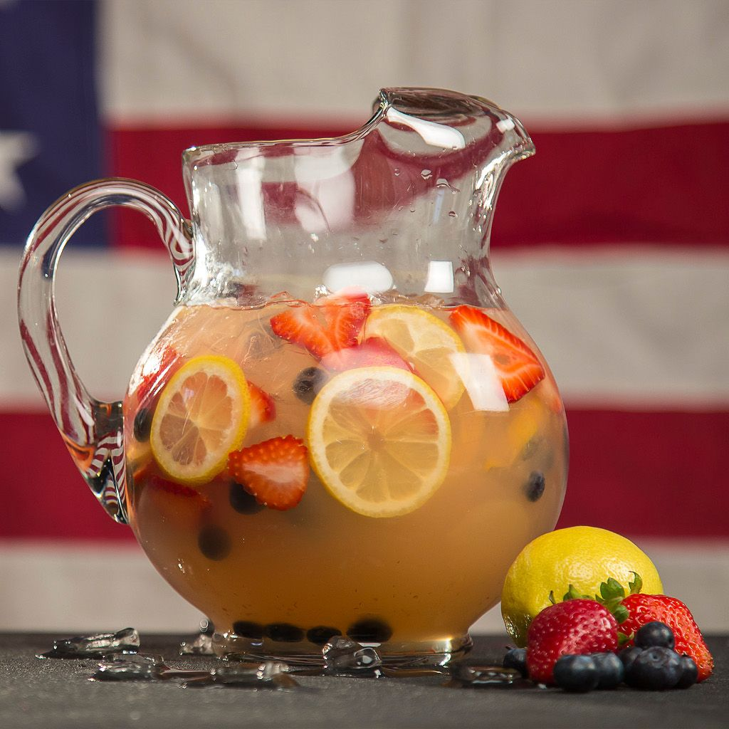 This patriotic, tart refreshment is just what is needed for a hot summer celebration!