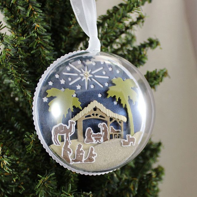 Nativity Ornament By Lizzie Jones For Papertrey Ink