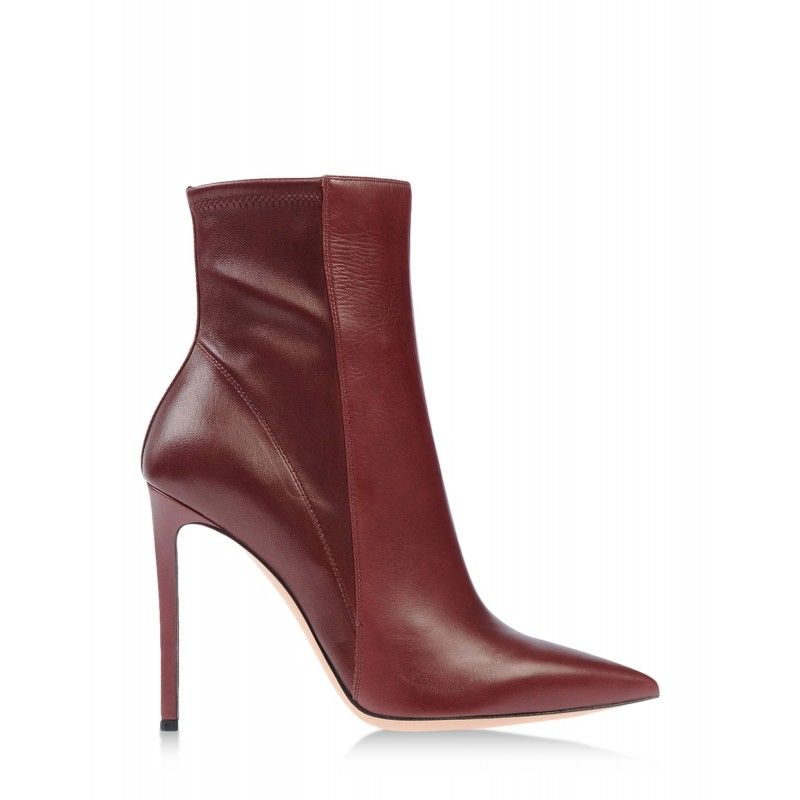 Gianvito Rossi Burgundy Leather Pointed Ankle Boot - ShopBAZAAR. Wear Marsala for 2015.
