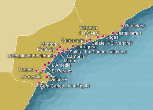 Costa Dorada El Garraf La Costa Dorada Recorre El Mediterraneo