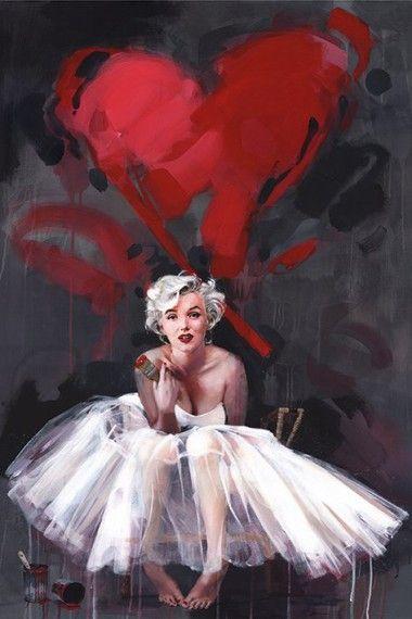 Marilyn Monroe Serce Plakat Galeria Plakatu Marilyn Monroe Painting Marilyn Monroe Artwork Marilyn Monroe Art