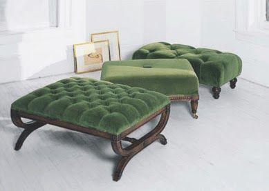 Tufted Velvet Ottomans Ottoman In Living Room