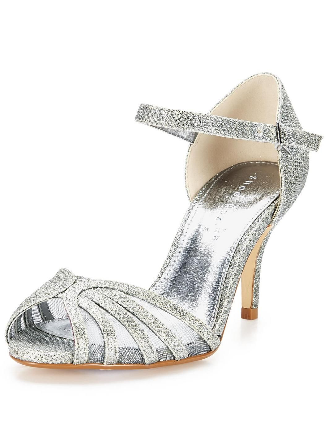 Black sandals littlewoods - Judy Mid Heel Sparkle Sandals Http Www Very Co