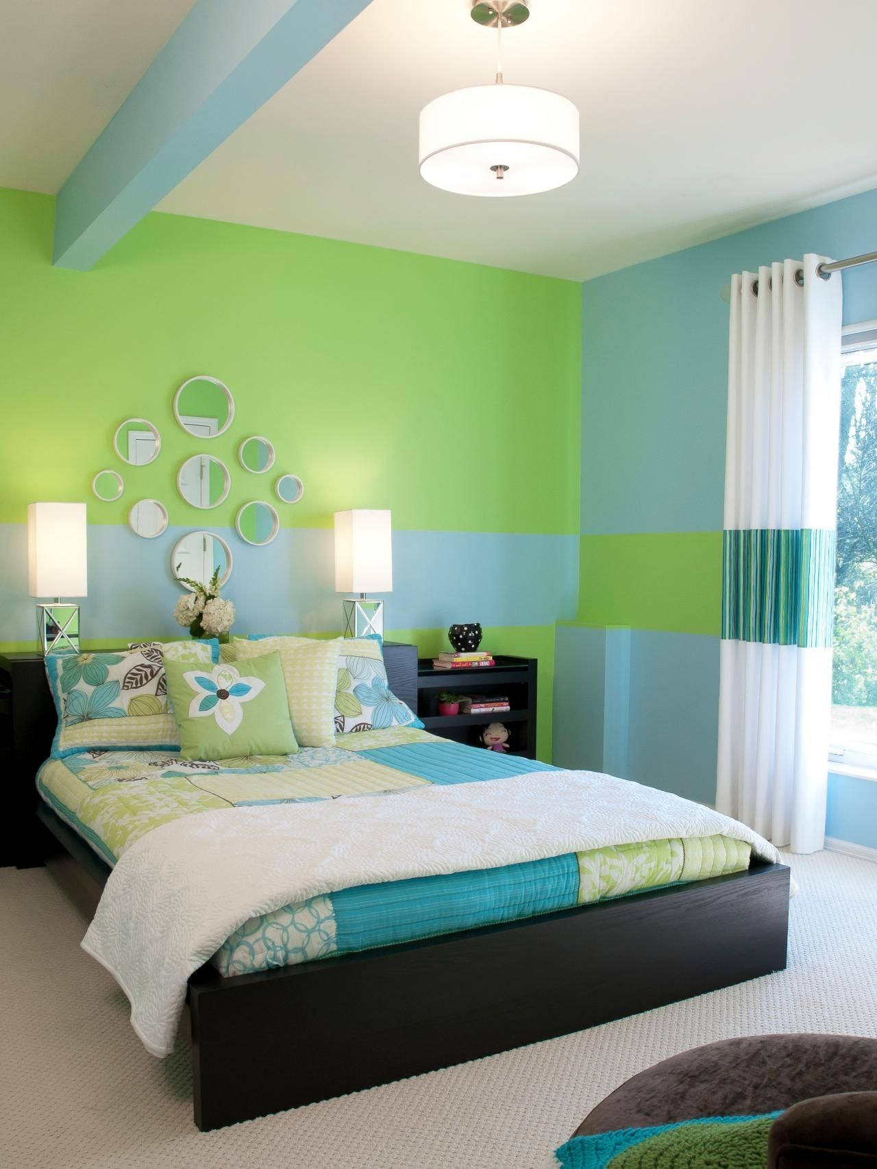 Cute Girl Bedroom Ideas Your Daughter Will Love A Room Filled With Color Patterns And Cute Green Bedroom Decor Girls Bedroom Colors Interior Design Bedroom