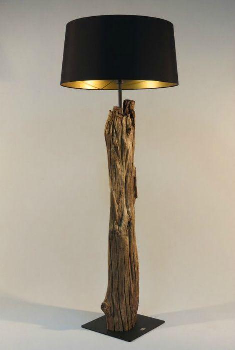 огород   Lámpara de madera a la deriva, Lampara de pie