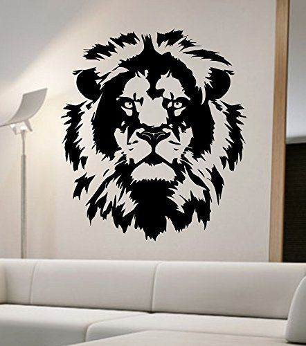 lion wall decal viinyl sticker home decor abstract lion on wall stickers painting id=50545