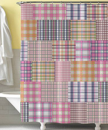Take A Look At This Pink Preppy Plaid Shower Curtain By Tickled Pink