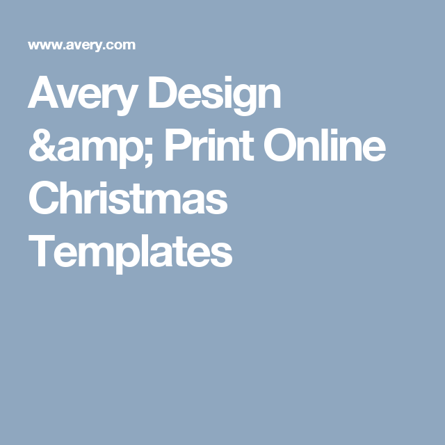 Avery Design Print Online Christmas Templates Labels And