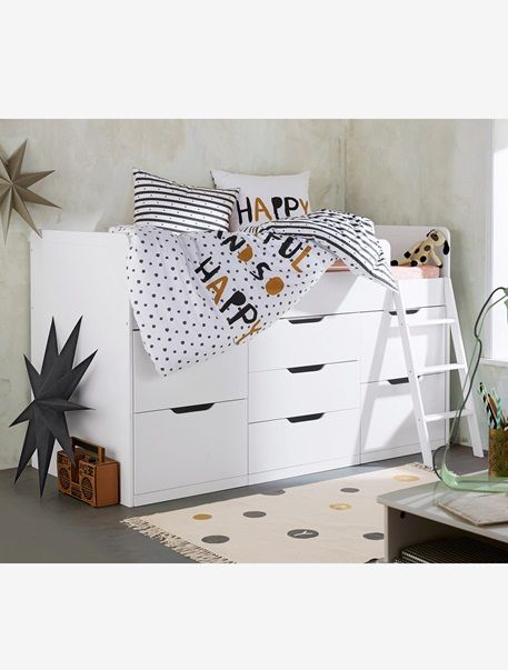 629 verbaudet combin lit enfant avec rangements passe passe xxl blanc vertbaudet enfant. Black Bedroom Furniture Sets. Home Design Ideas