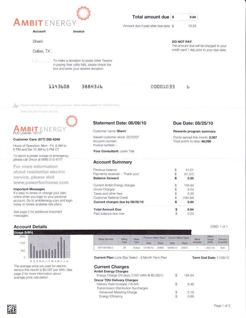 Ambit, Residential, Energy, Utility, Electric, Gas