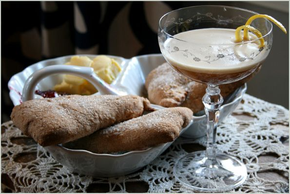 Earl Gray Martini and Scones - Downton Abbey Inspired Cocktail and Snack - Root and Vine Blog