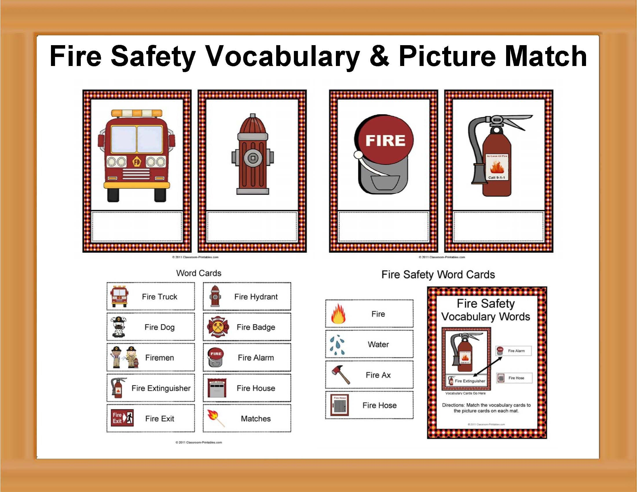 Fire Safety Vocabulary
