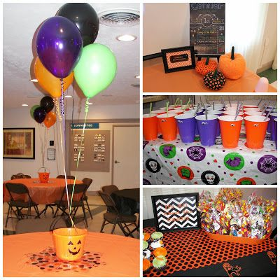 Halloween Birthday Party. Simple decoration ideas for a