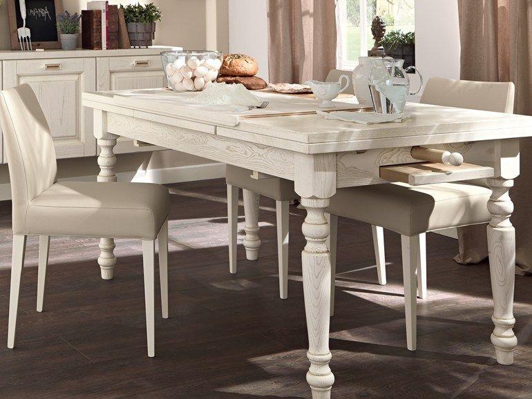 tavolo allungabile da cucina in legno vecchia toscana collezione laura by cucine lube
