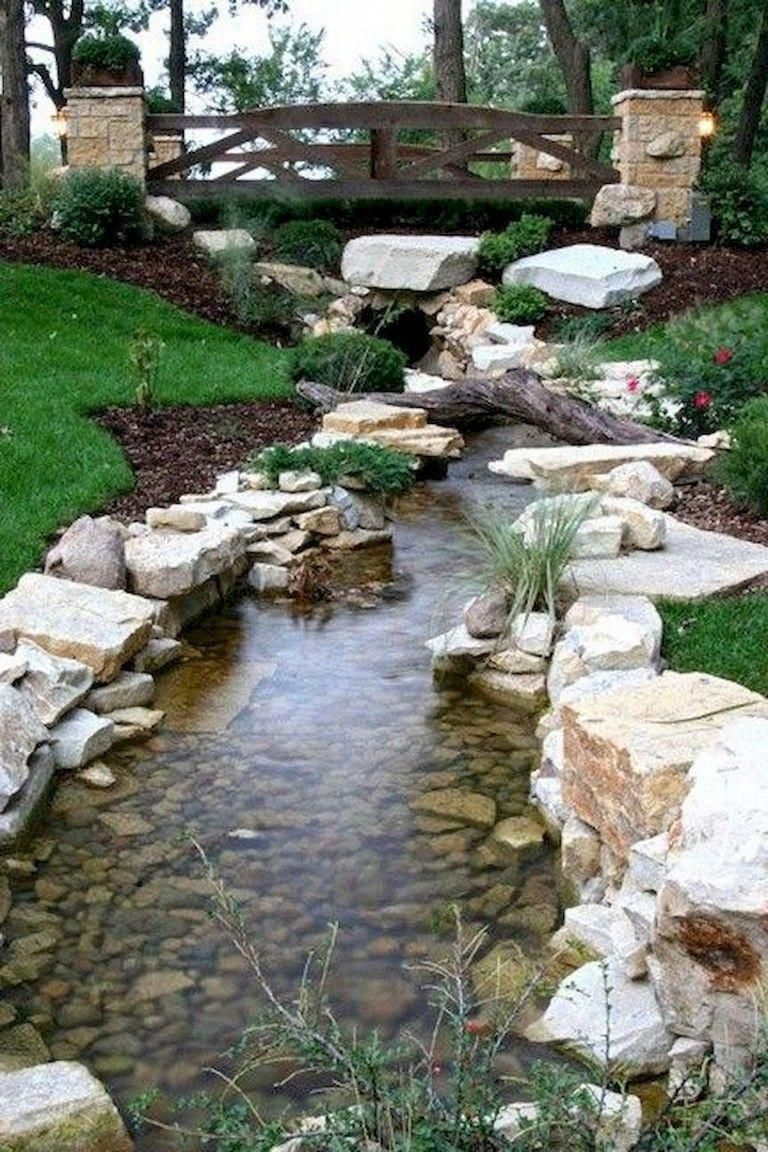 60 Marvelous Backyard Waterfall Garden Landscaping Ideas Gardenlandscaping Gardenideas Backya Waterfalls Backyard Backyard Pool Landscaping Pool Landscaping