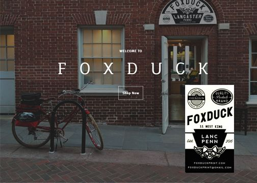 Foxduck Is A Graphic Design Print Company Based Out Of Lancaster