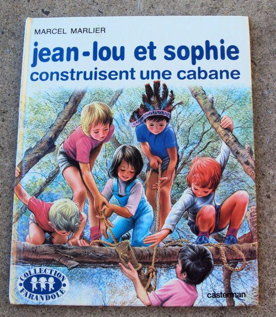 Jean-Lou et Sophie Construit Une Cabane (1978) By Marcel Marlier - Vintage French Childrens Book. $19.00, via Etsy.