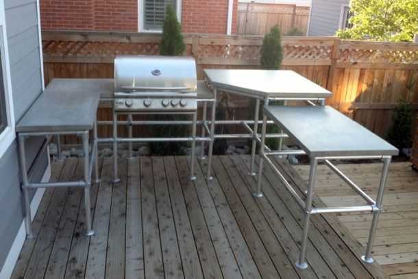 Superieur Ultimate Outdoor Kitchen Island   Made With Pipe Fittings