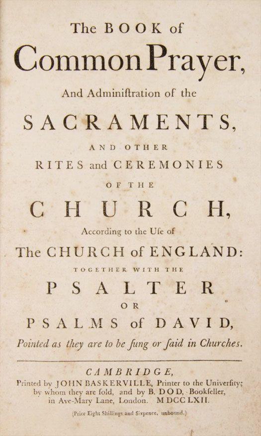 Baskerville Book fo Common Prayer