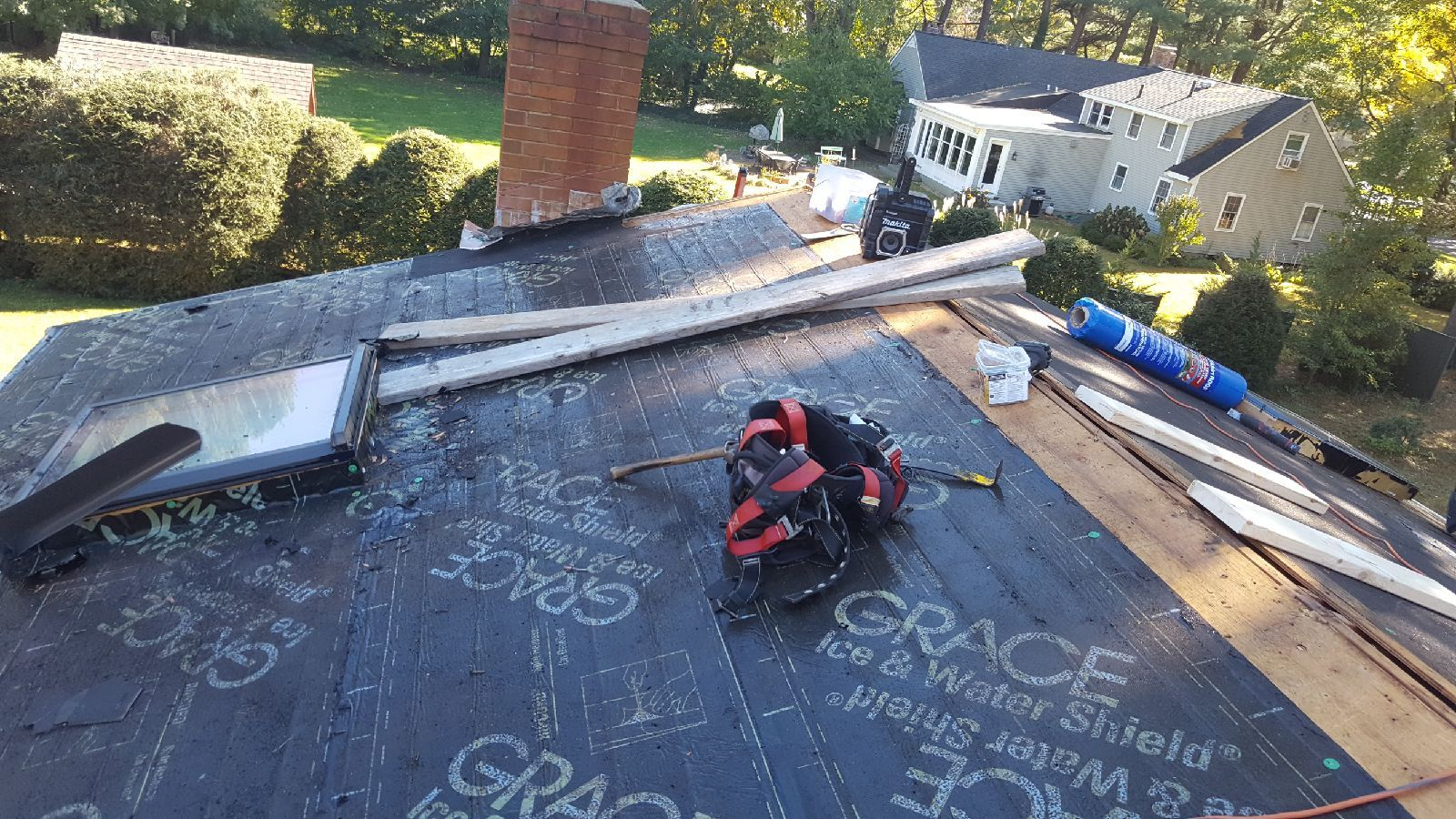 This Roof Is Being Striped And Made Ready For A New Aluminum Standing Seam Metal Roofing System Metal Roofing Systems Metal Roof Metal Roofing Contractors
