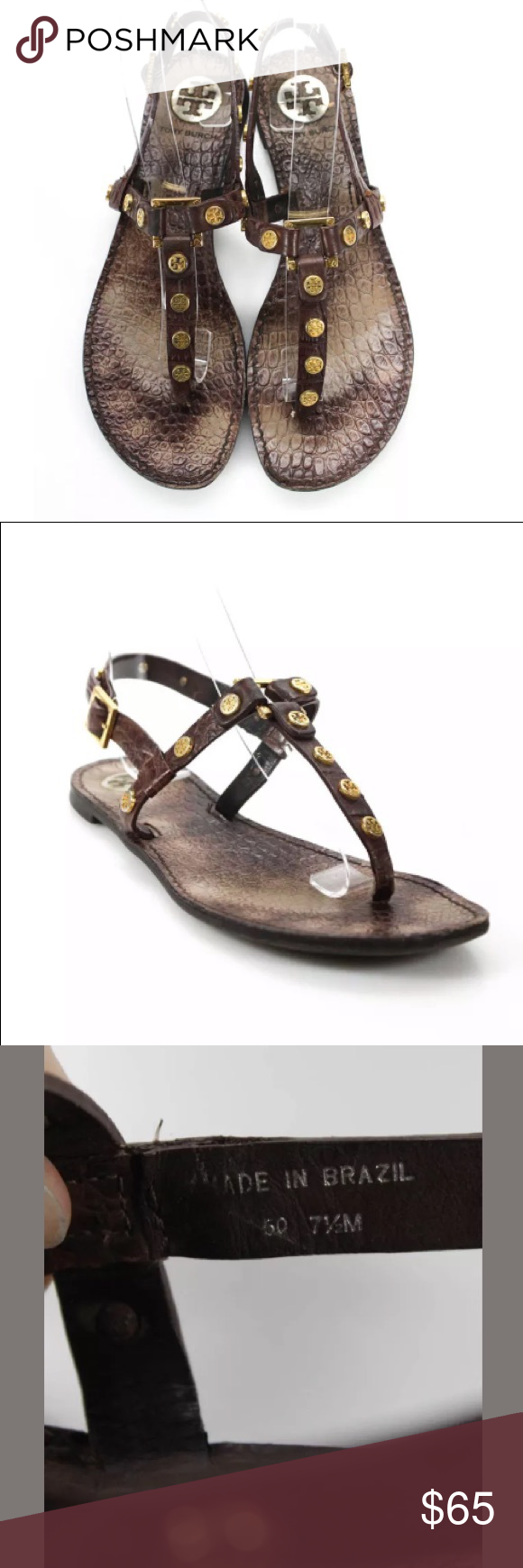 5051d465d55149 Tory Burch Marge Sandals Chocolate Brown