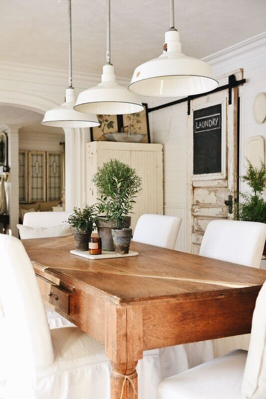 Pin by Elena on ranch house | Modern farmhouse dining room