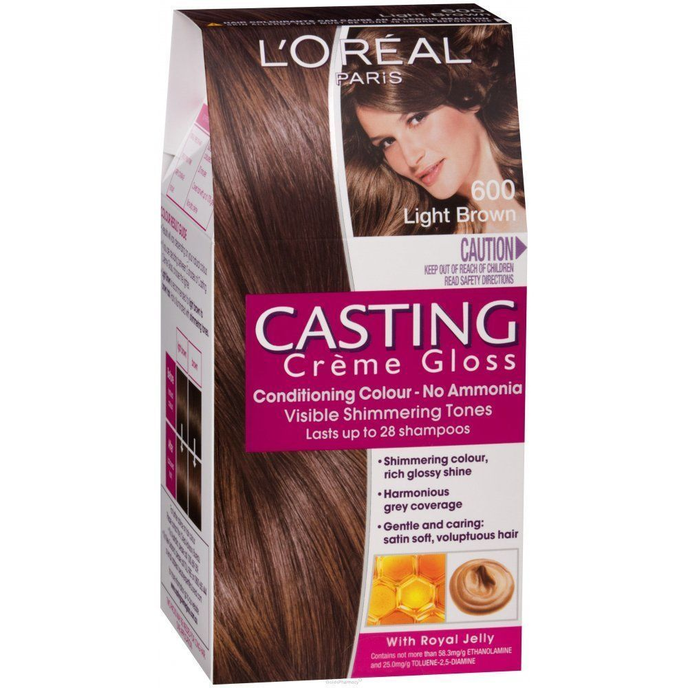 Loral Casting Crme Gloss 600 Light Brown Permanent Hair Dye No