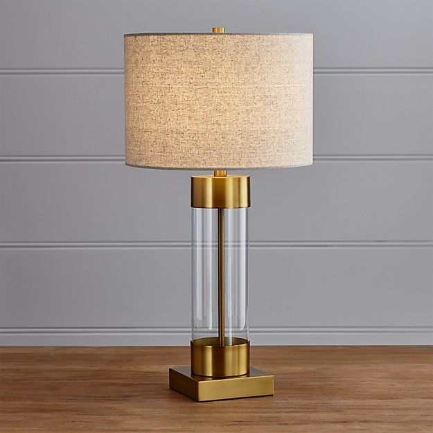Avenue Brass Table Lamp With Usb Port Reviews Crate And Barrel Nickel Table Lamps Table Lamp Bronze Table Lamp