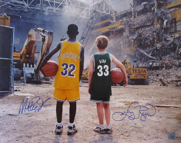 half off 98bd8 d25e8 Larry Bird from the Boston Celtics and Magic Johnson from ...