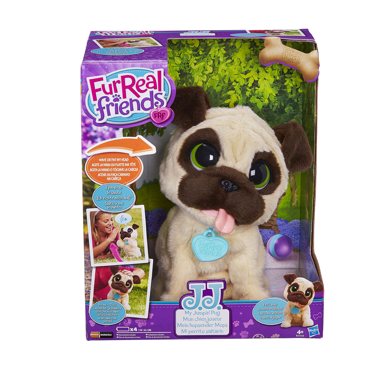 Fur Real Friends Jj My Jumping Pug Fur Real Friends Pet Toys Little Live Pets