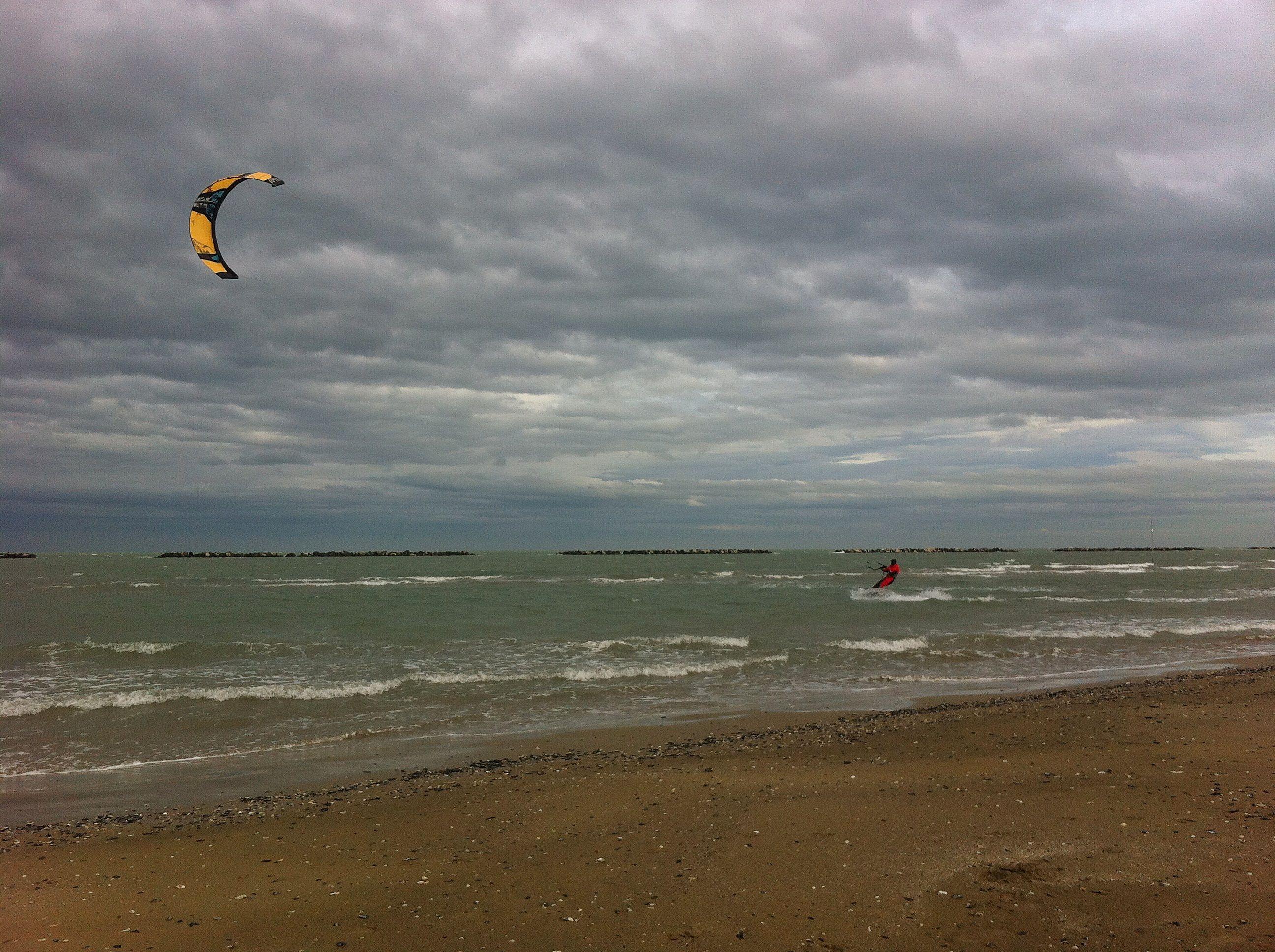 KiteSurf -  Febbraio 2014 - Spiaggia di Cesenatico