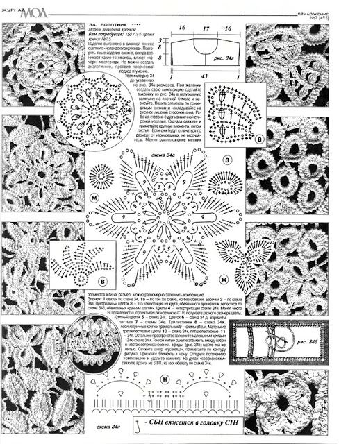 Irish crochet &: IRISH LACE COLLAR ... ВОРОТНИК ИРЛАНДСКИМ КРУЖЕВОМ ...