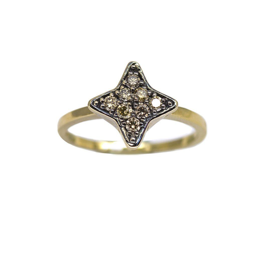 HOTCROWN Bey Ring Gold & Diamonds