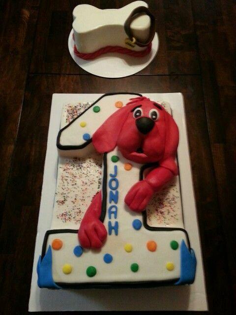 Clifford The Big Red Dog Bone Smash Cake My Cakes Pinterest