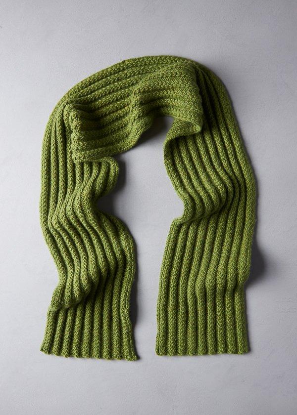 Braided Rib Scarf | Purl Soho | Ribbed scarf, Knitting ...