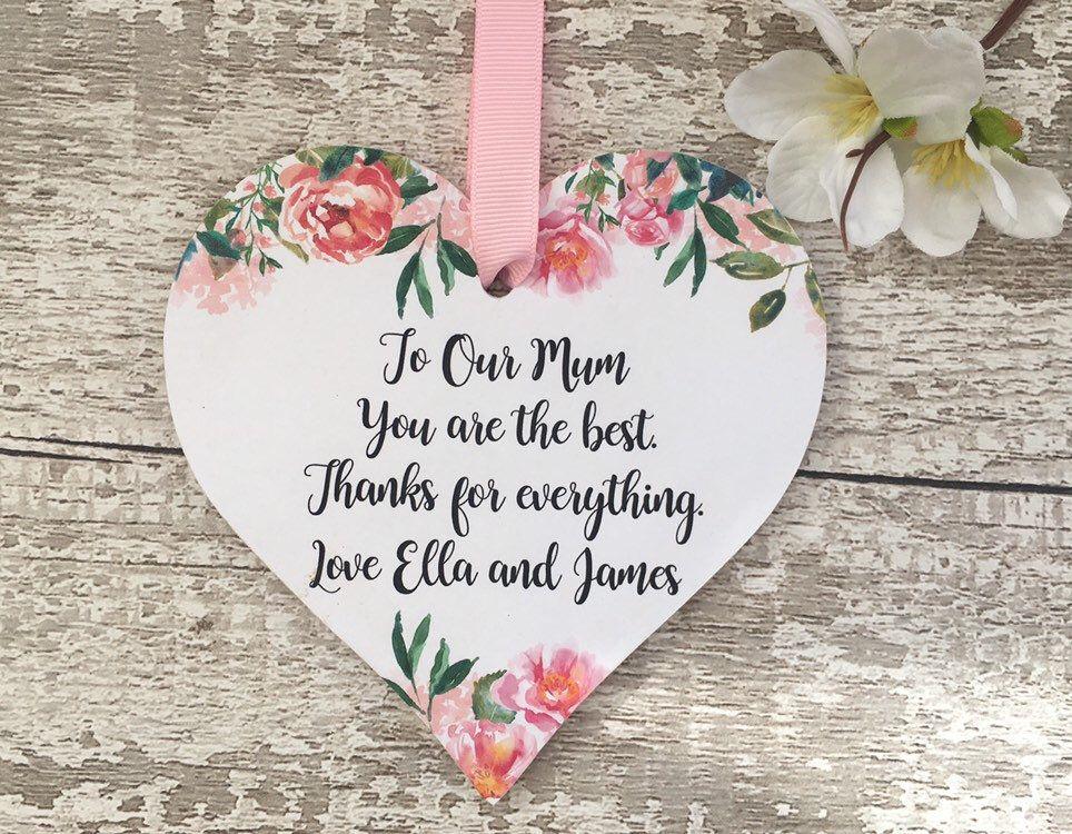 PERSONALISED Flower Word Art Wall Print Gift Idea Mum Nan Plant Petal Pretty