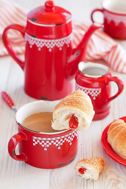 Desayuno perfecto con la vajilla perfecta.