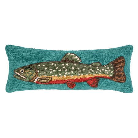 treasures fabric pillow carolines here s great speckled a shop trout decorative price fish on