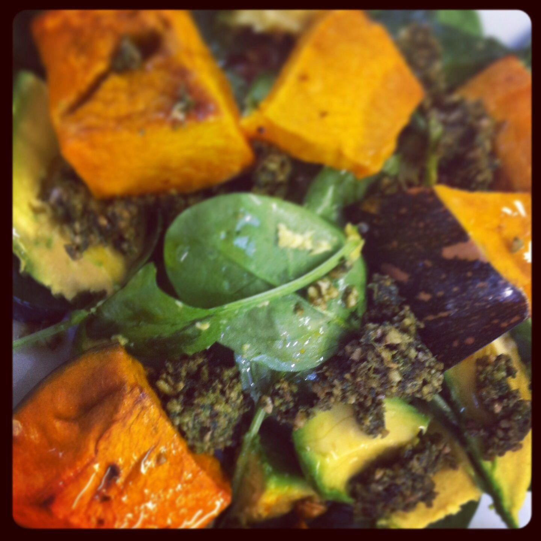 Home made pesto salad