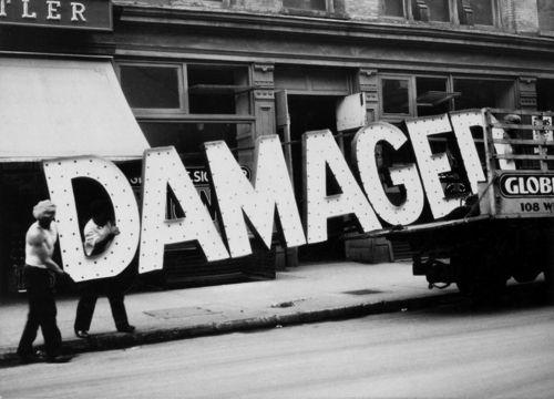 Damaged Sign. dd