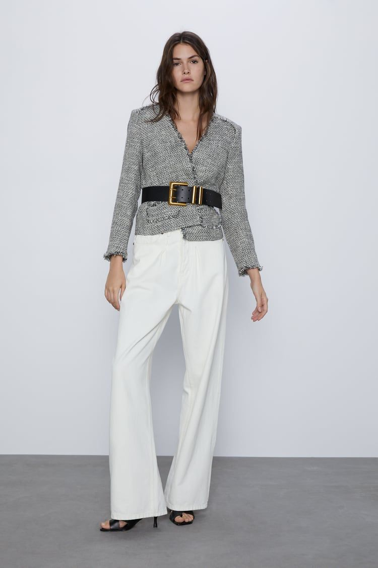 Pin by Becky Wang on ZARA in 2020 Tweed blazer, Womens