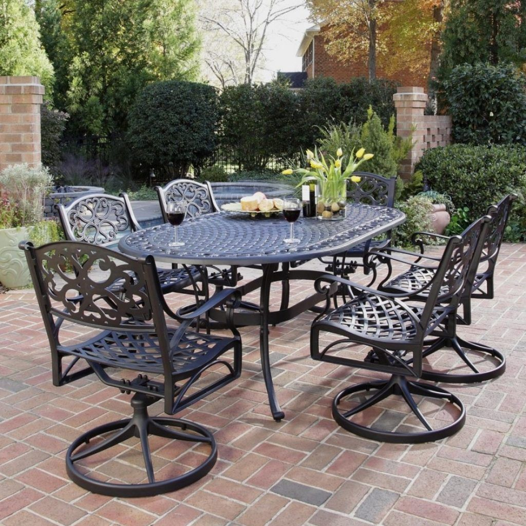 Delightful Wrought Iron Swivel Patio Chairs
