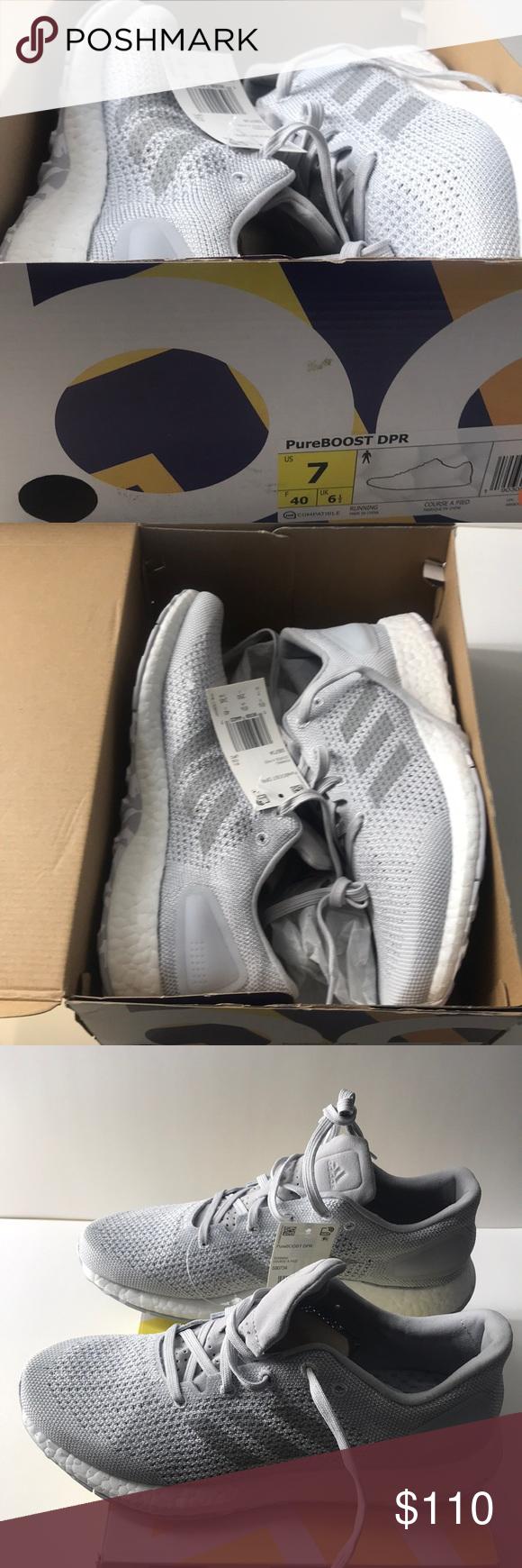 Adidas pureboost DPR Limited Gray corriendo zapatos NWT altos estándares