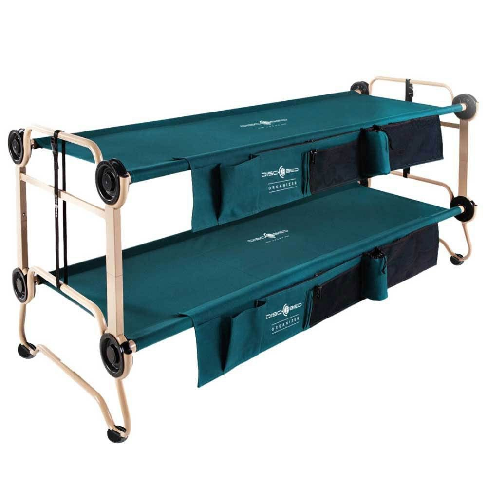 Disc O Bed Large Cam O Bunk Green Double Cot W Organizers 4 No